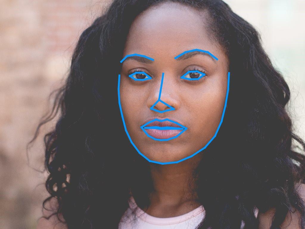 Gesichtserkennung bei dunkler Haut