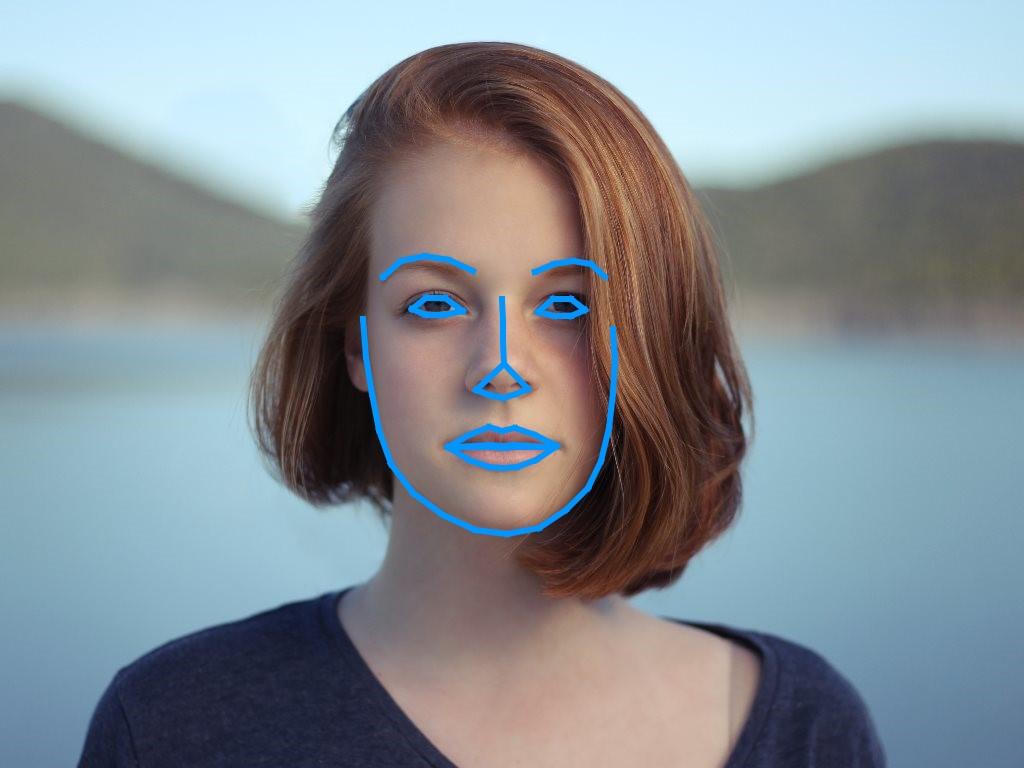 Gesichtserkennung - Schatten durch Haare ist akzeptabel