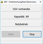 USV Tool für die Verwendung einer unterbrechungsfreien Stromversorgung